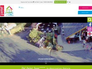 Camping Espace De Tourisme Le Val Saint Jean 4 étoiles à Mauriac