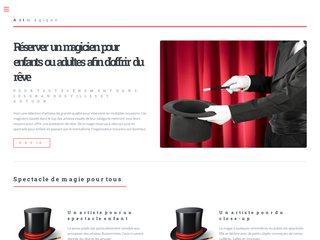 screenshot http://www.allo-magie.com Magicien pour enfants