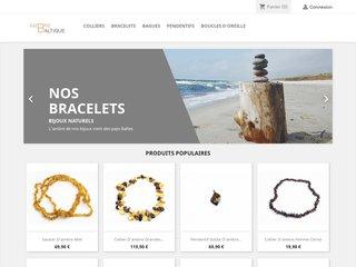 screenshot http://www.ambrebaltique.com Bijoux bébé d'ambre véritable