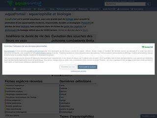 screenshot http://www.aquaportail.com Aquariophilie aquaportail