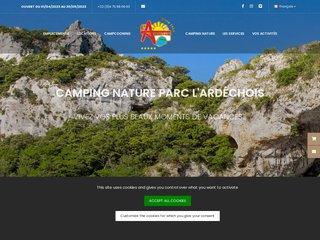 Camping Nature Parc L'Ardechois 5 étoiles à Vallon Pont D'Arc
