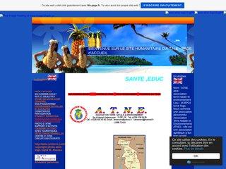 screenshot http://www.atne-togo.fr.gd Site humainitaire en afirque
