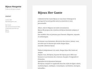 screenshot http://www.bijouxhergante.com Bijoux fantaisie -créateur hergante - site officie