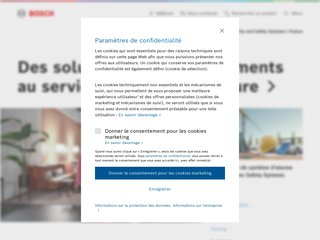 screenshot http://www.boschsecurity.fr Bosch security systems france