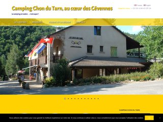 Camping Chon Du Tarn 2 étoiles à Bédouès