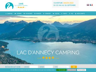 Camping International Du Lac D'Annecy 4 étoiles à Saint Joroz