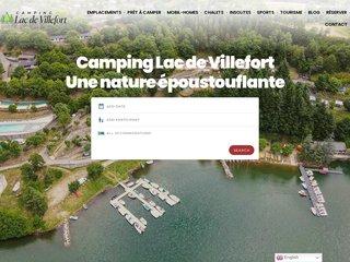 Camping Du Lac 3 étoiles à Pourcharesses