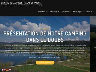Camping Du Lac 3 étoiles à Labergement-Sainte-Marie