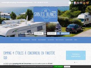 Camping Les Sables Blancs 4 étoiles à Concarneau