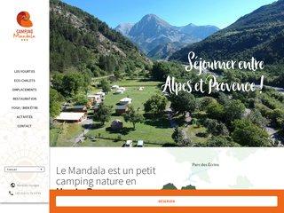 Camping Mandala 1 étoile à Prads-Haute-Bléone