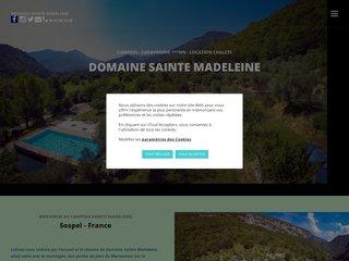 Camping Domaine Sainte Madeleine 3 étoiles à Sospel