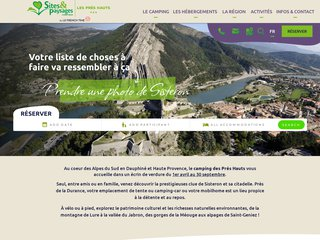 Camping Les Pres Hauts 4 étoiles à Sisteron