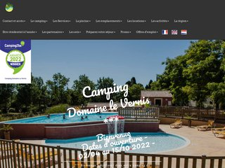 screenshot http://www.campingdomainelevernis.fr