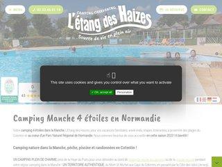 Camping L'Etang Des Haizes 4 étoiles à St Symphorien Le Valois