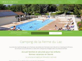 Camping La Ferme Du Lac 3 étoiles à Les Marche