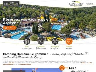 Camping Domaine Le Pommier 5 étoiles à Villeneuve-De-Berg