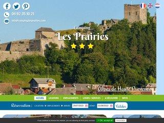 Camping Les Prairies 3 étoiles à Seyne Les Alpes