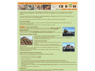 screenshot http://www.cb-bois-chauffage.fr Vente de bois de chauffage