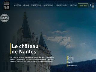screenshot http://www.chateau-nantes.fr/ - chateau de nantes -