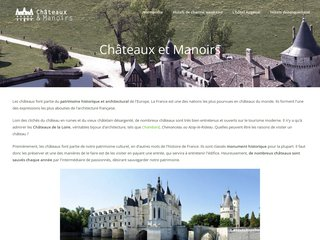screenshot http://www.chateaux-manoirs.fr Chateaux hotels manoirs en normandie