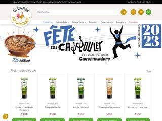 screenshot http://www.comptoirgastronomique.com Le comptoir gastronomique