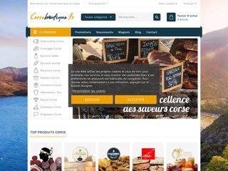 screenshot http://www.corseboutique.fr Corseboutique la boutique en corse
