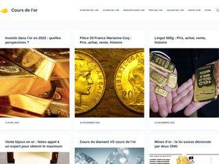 screenshot http://www.coursdelor.info/
