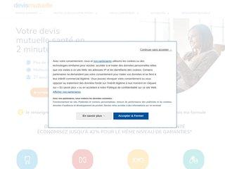 screenshot http://www.devismutuelle.com Devismutuelle.com, comparer toutes les mutuelles s
