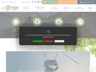 screenshot http://www.divertiparc.com Divertiparc : parc de loisirs nature