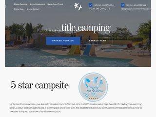 Camping Les Sources 5 étoiles à Courthezon