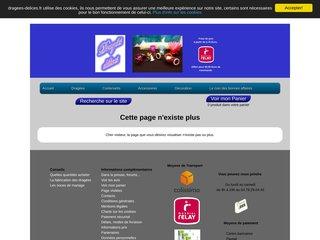 screenshot http://www.dragees-delices.fr/ Vente en gros de dragées et accessoires dragées