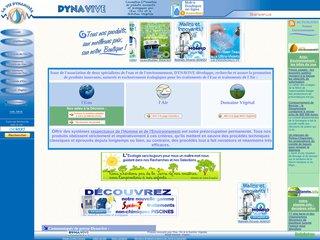 screenshot http://www.dynavive.eu Dynavive - traitements de l'eau et de l'air