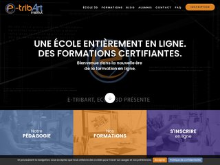 screenshot http://www.e-tribart.fr école 3d e-tribart enseignement en ligne