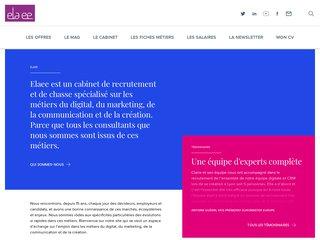 screenshot http://www.elaee.com Blog d'un cabinet de recrutement