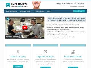 screenshot http://www.endurance-implant.com Information implant dentaire et implantologie