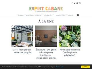 screenshot http://www.espritcabane.com/ Esprit cabane