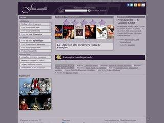 screenshot http://www.films-vampires.com/ Films-vampires.com - liste de films de vampire