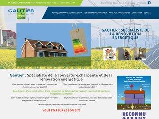 screenshot http://www.gautier-entreprise.fr Rénovation énergétique et énergies renouvelables