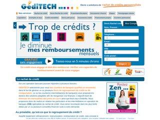 Regroupement de crédit avec Geditech