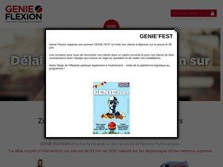 screenshot http://www.genieflexion.com/ Raccord et flexible hydraulique