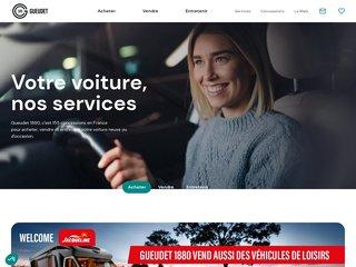 screenshot http://www.gueudet.fr Voiture occasion et neuve