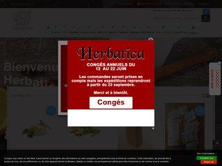 screenshot http://www.herbatica.fr Herbatica - l'univers des plantes, thés  et rooib