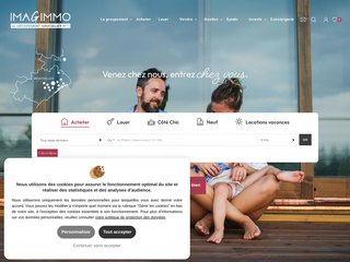 screenshot http://www.imagimmo.com/ Immobilier montpellier