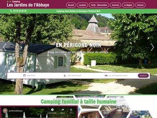 Camping Les Jardins De L'Abbaye 2 étoiles à Cadouin
