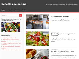 screenshot http://www.la-cuisine-des-delices.eu La cuisine des delices