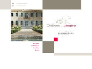 screenshot http://www.lamogere.fr Château de la mogère à montpellier