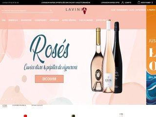 screenshot http://www.lavinia.fr Vente de vins, champagne, vins primeurs : lavinia