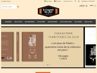 screenshot http://www.lecomptoirdesjeux.com Le comptoir des jeux