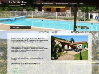 Camping Domaine Le Pra De Mars 3 étoiles à Vorey-Sur-Arzon