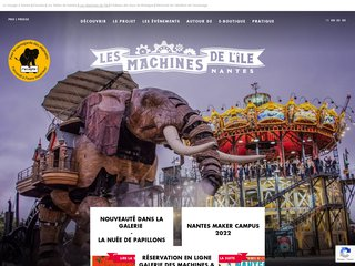 screenshot http://www.lesmachines-nantes.fr/ Machines de l'ile